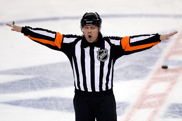 Officiating and video reviews continue to a bone of contention for NHL fans (Getty Images).
