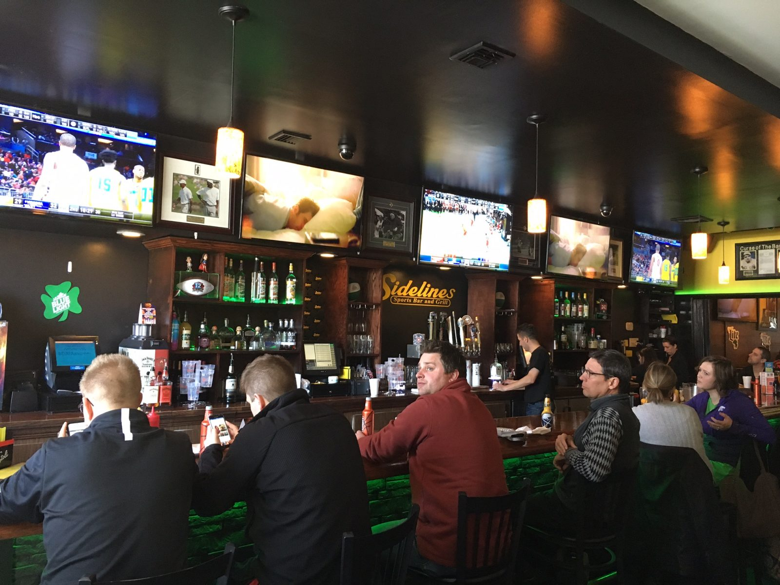 Sidelines Sports Bar & Grill is a great place for college basketball and other sports throughout the season. (Photo by Michael Farrell)