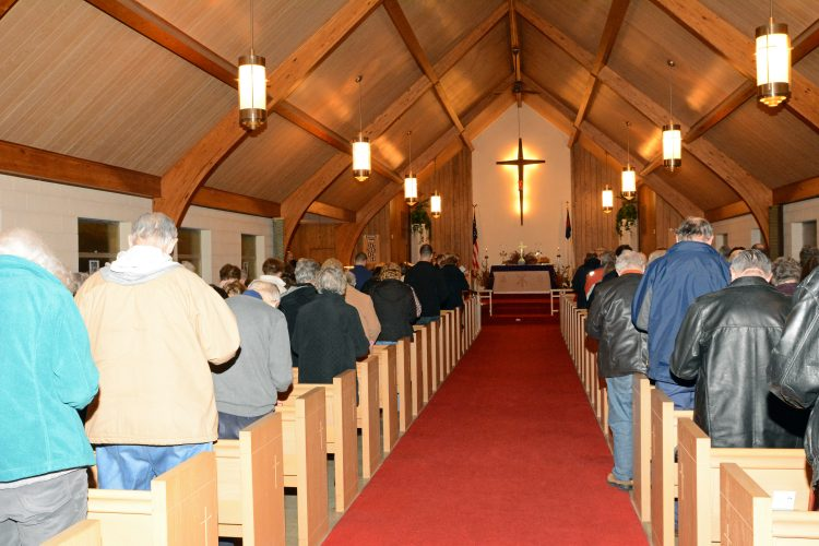 Worshipers at last year's Lenten Journey at St. Nicholas Anglican Church in West Seneca. (Courtesy St. Nicholas Anglican Church)