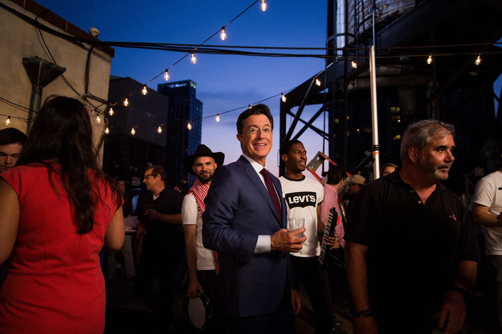 Stephen Colbert, here on the roof of the Ed Sullivan Theater in Manhattan, is a ratings winner in Western New York. (Damon Winter/The New York Times)
