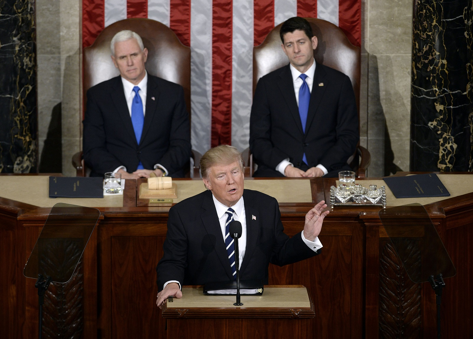 President Trump's first address to a joint session of Congress was a TV ratings winner. (Olivier Douliery/Abaca Press/TNS)