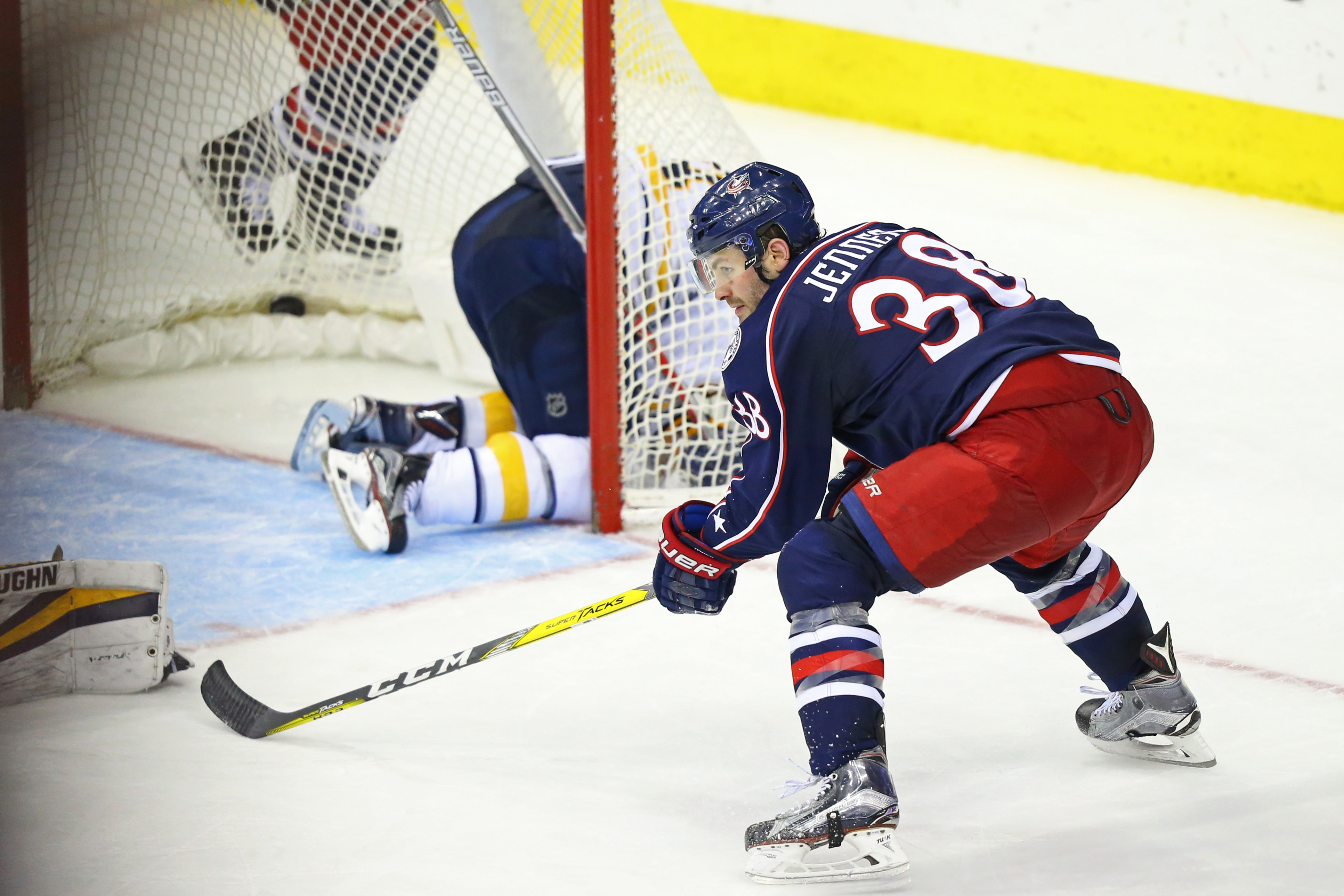 Boone Jenner scored the game-winner for the Columbus Blue Jackets. (USA TODAY Sports)