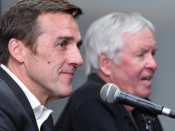 Vegas General Manager George McPhee, left, and owner Bill Foley are forcing NHL teams to shuffle a lot of cards with the expansion draft looming (Getty Images).