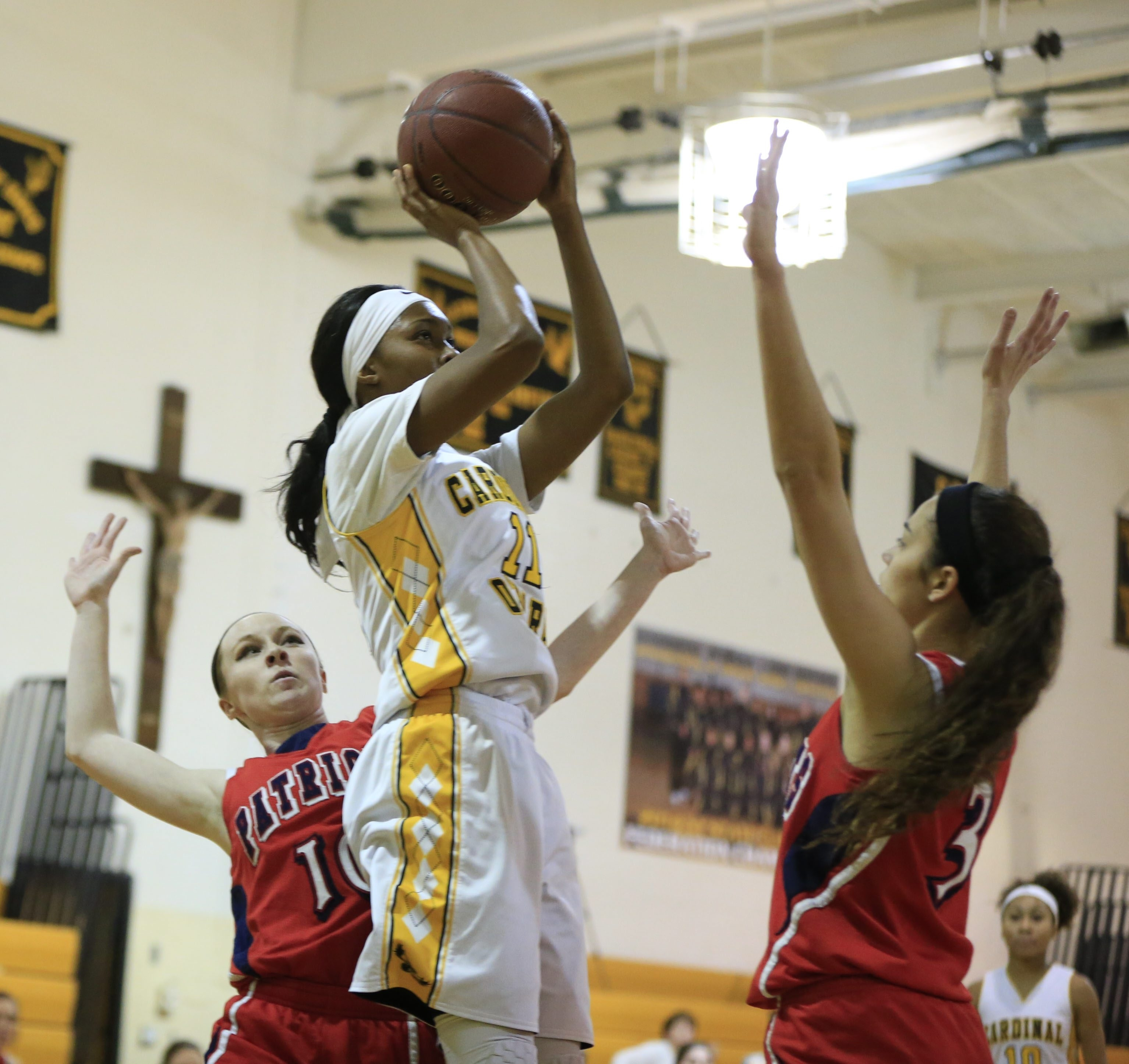 Anndea Zeigler and the Cardinal O'Hara Hawks face The Mary Louis Academy in the New York State Catholic High Schools Athletic Association Class AA semifinals on Friday night in New York City. (Harry Scull Jr./Buffalo News file photo)