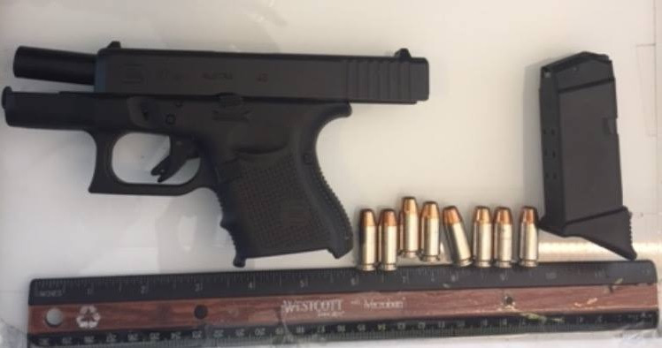 An Eden man had this gun in his carry-on luggage on Thursday. (NFTA Transit Authority Police)