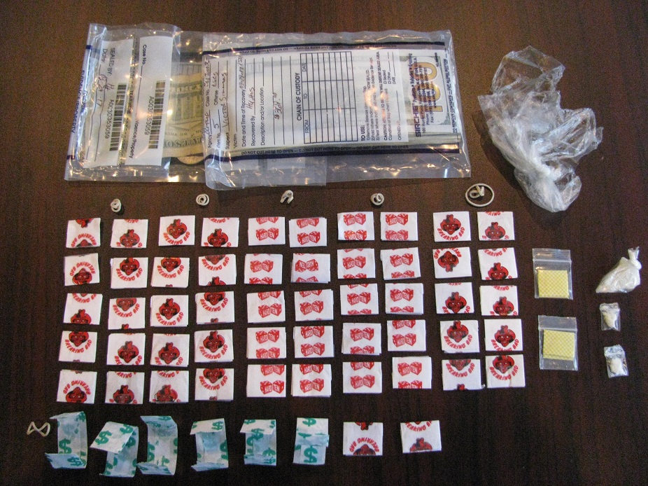 A quantity of heroin and crack cocaine was seized Wednesday in Albion. (Orleans County Major Felony Crimes Task Force)