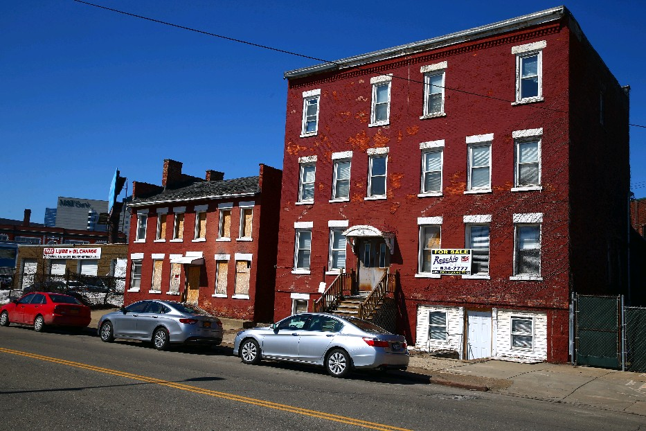 These Antebellum rooming houses in the Michigan Street African-American Heritage Corridor were recommended for landmark status, in part to safeguard them from demolition. (John Hickey/Buffalo News)