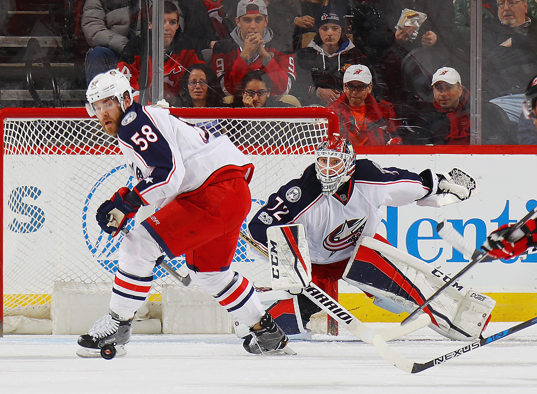 Columbus goalie Sergei Bobrovsky has three straight shutouts.  (Getty Images)