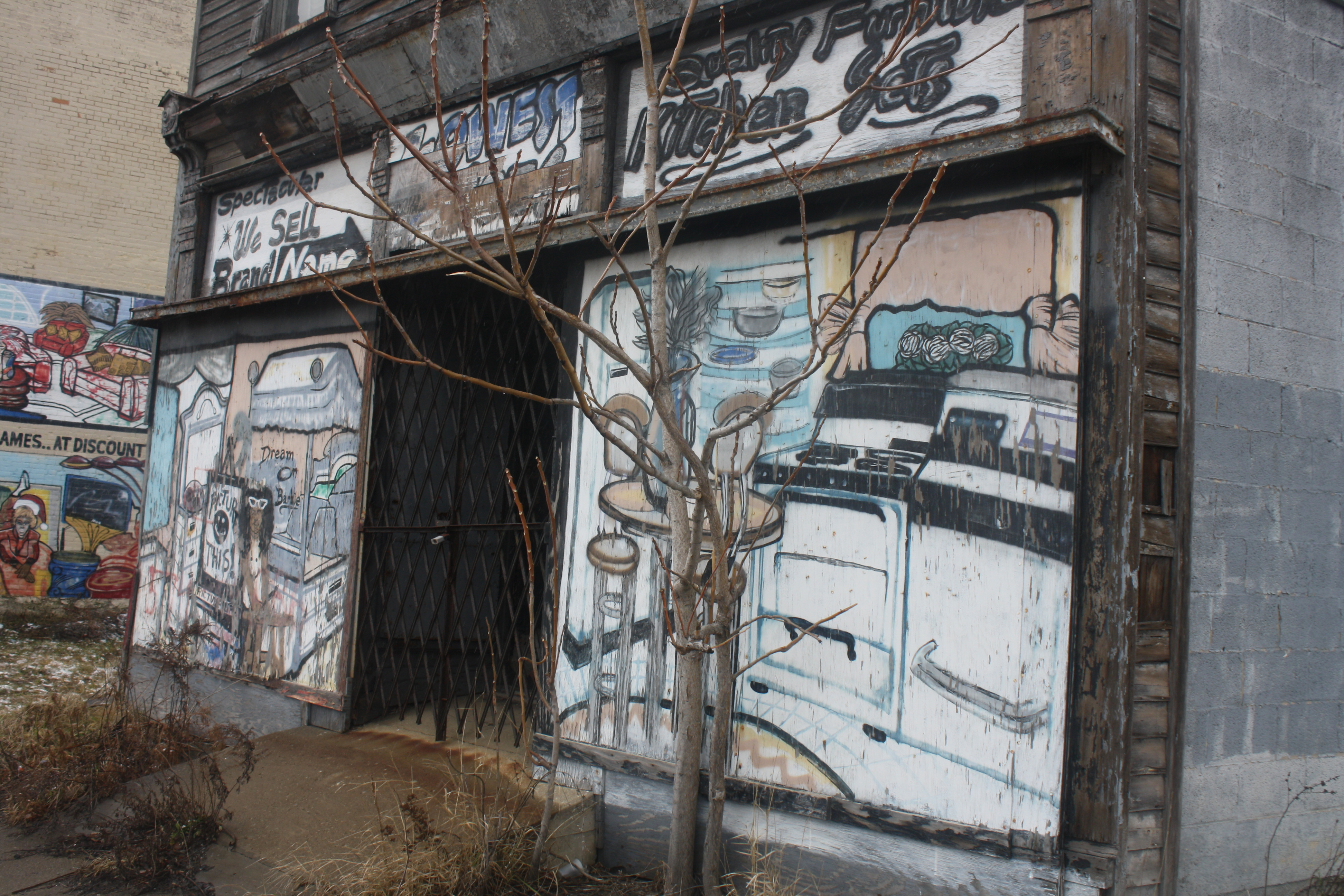 Grafitti add color to the decaying buildings on Buffalo's East side.