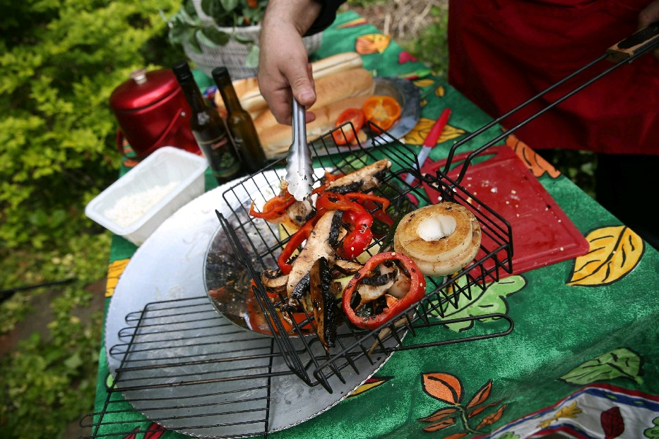 Grill you veggies in a basket for a healthy summer home 'Staycation.' (Sharon Cantillon/Buffalo News file photo)