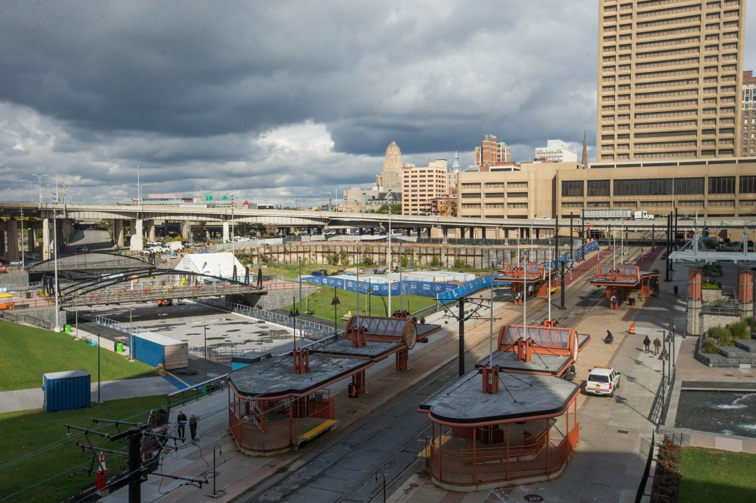 An architectural firm has been selected to help Canalside continue its evolution with upcoming additions. (Derek Gee/Buffalo News)