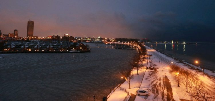 The coldest air since March arrives in Buffalo tonight with sub-freezing temperatures behind an Arctic front that will bring a brief snow squall to the region and then a record-breaking chilly Friday.  (John Hickey/Buffalo News file photo)