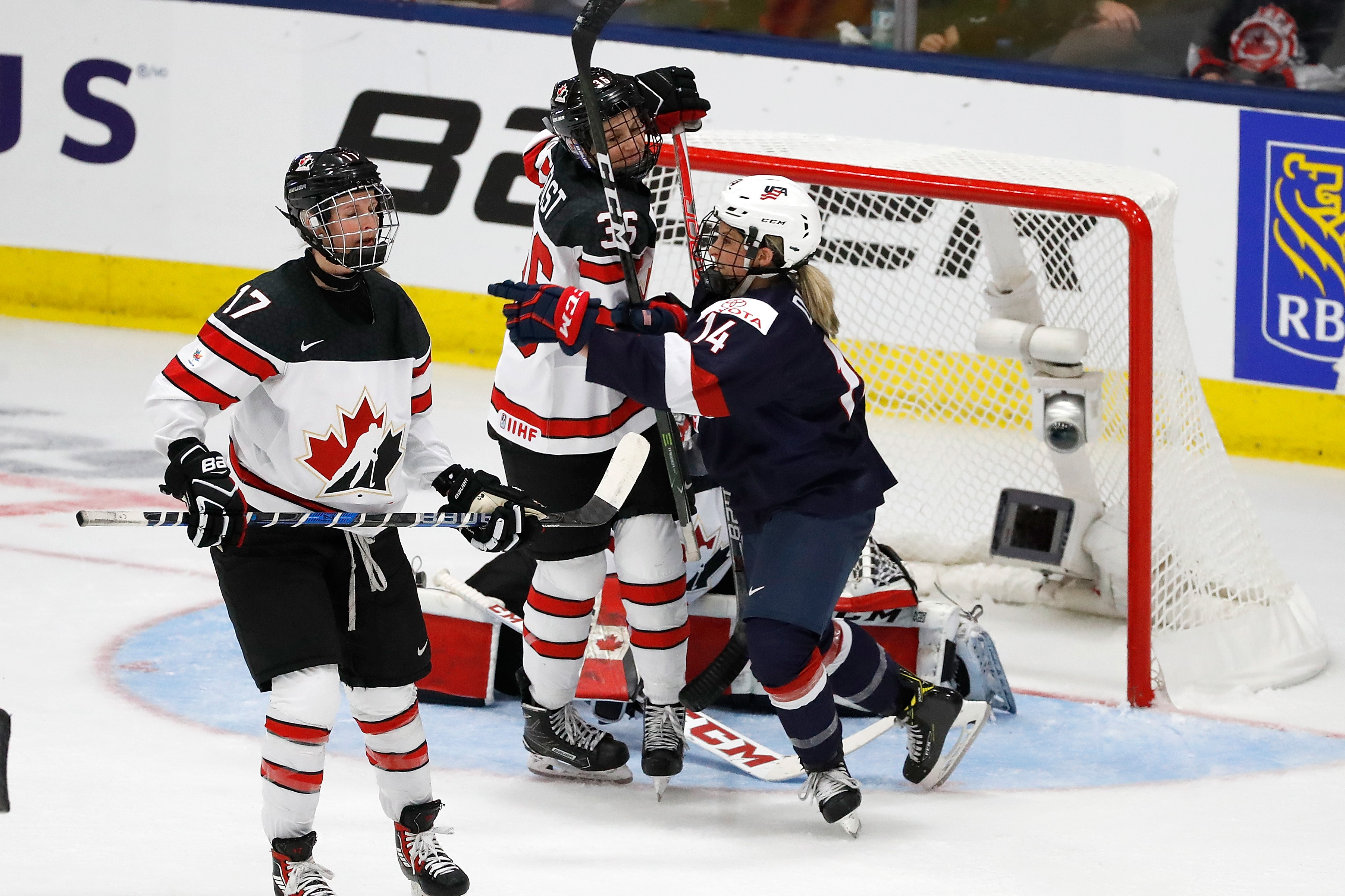 Brianna Decker opened the scoring for Team USA at the IIHF World Championships. (Getty Images)