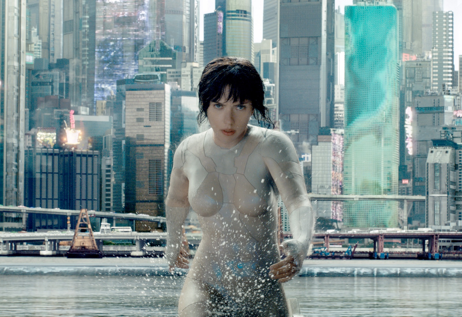 Scarlett Johansson in 'Ghost in the Shell.' (Paramount Pictures)