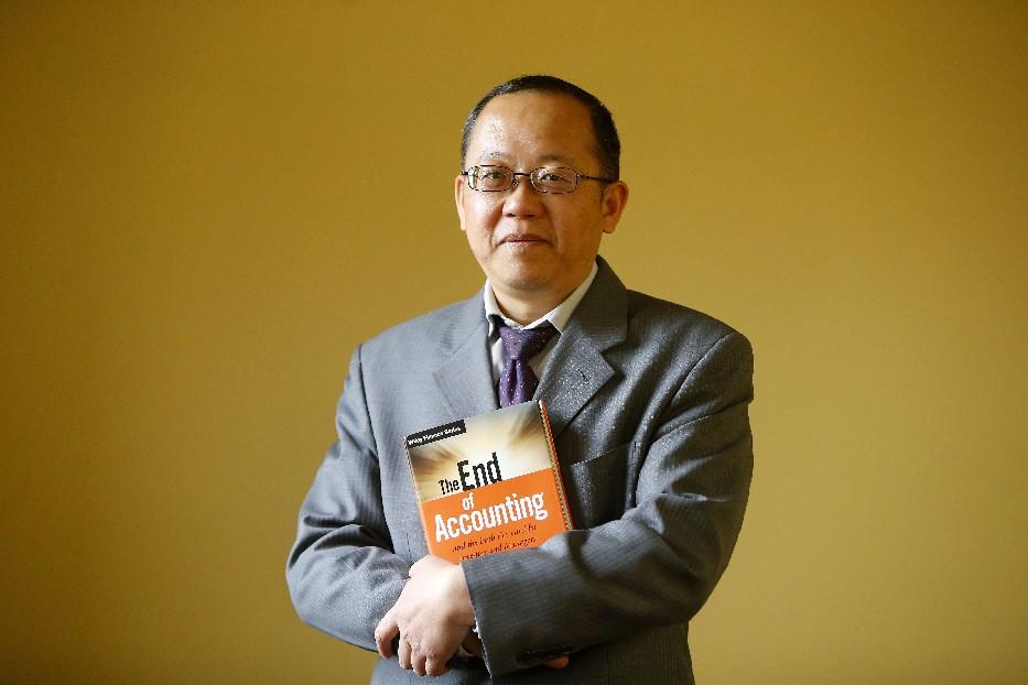 UB associate professor Feng Gu (Mark Mulville/Buffalo News)
