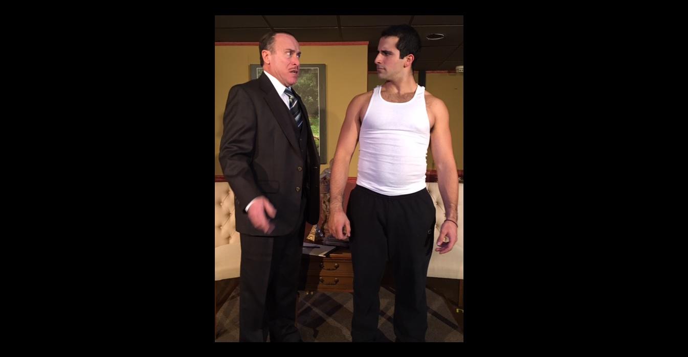 Robert Insana, left, and Brett Klaczyk star in 'Heaven Can Wait' at Desiderio's Dinner Theatre.