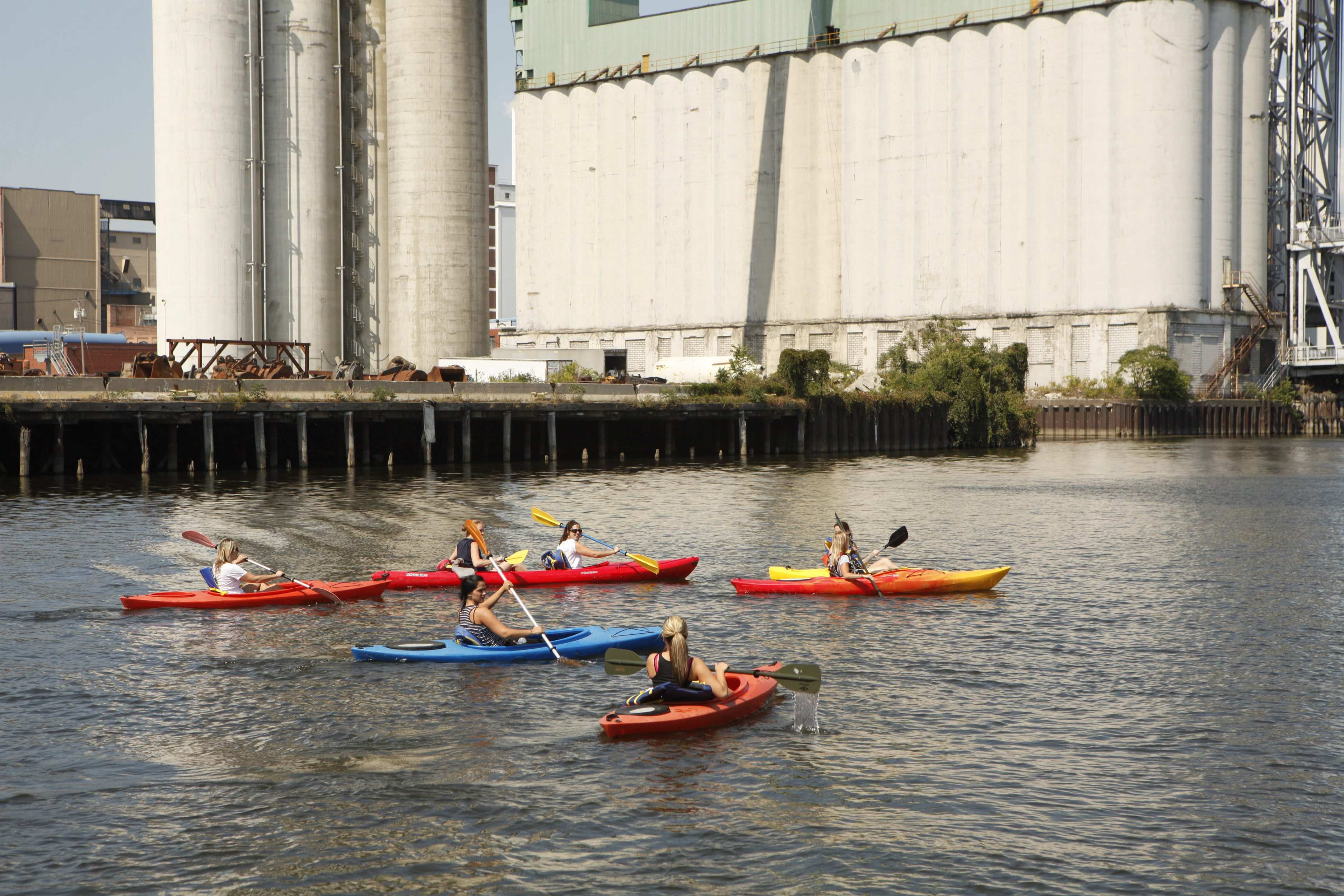 Once a hot spot for contamination, the Buffalo River is now a hot spot for recreation, thanks to the Great Lakes Restoration Initiative. (Derek Gee/Buffalo News file photo)