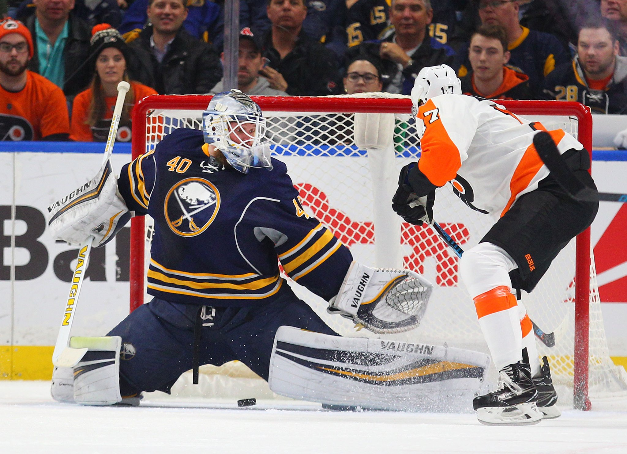 Sabres goalie Robin Lehner can negotiate a new deal until the arbitration hearing. (Mark Mulville/Buffalo News file photo)