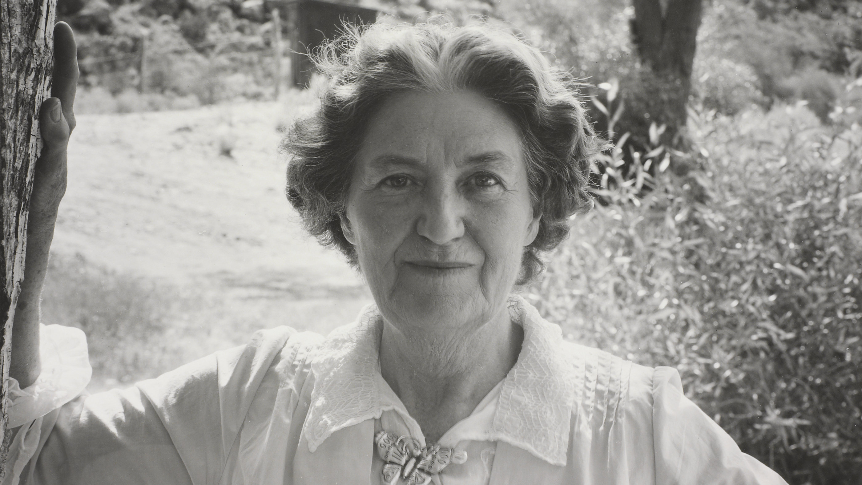 Mabel Dodge Luhan, shown here in a 1947 photograph by Laura Gilpin from the collection of the Amon Carter Museum of American Art, was instrumental in fostering the influential artist colony of Taos, New Mexico.