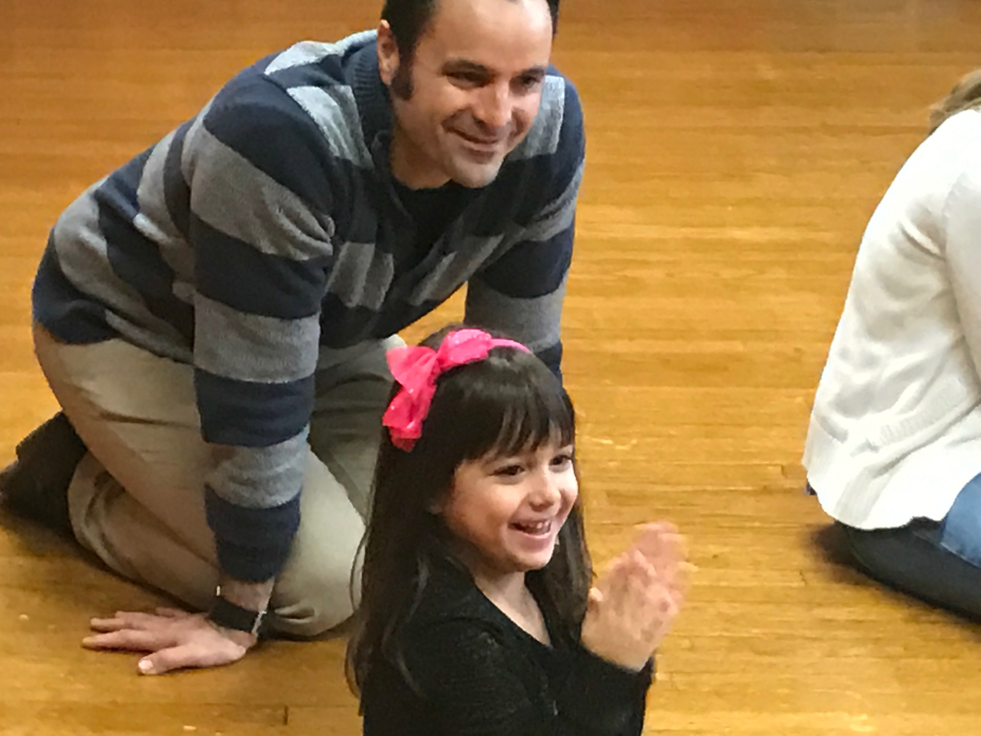 Emma loved every minute of the Music with Mar class and her musician daddy did, too. (Mary Friona-Celani/Special to The News)
