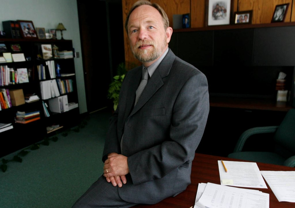 Niagara County Community College President James P. Klyczek says he feels the college has good shared governance, but when decisions have to be made, 'that's my job.' (Harry Scull Jr./Buffalo News file photo)