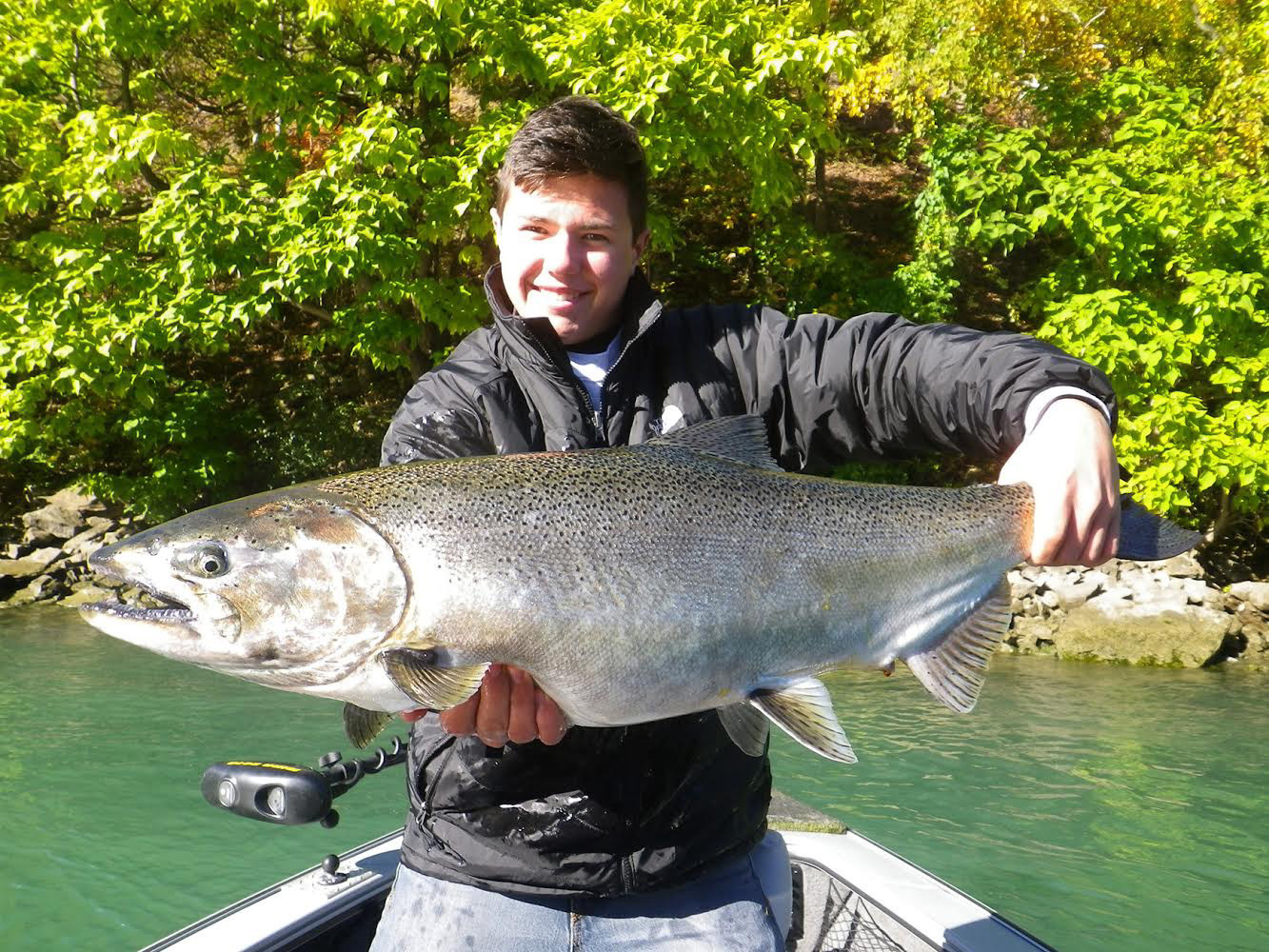 The big ticket item for the Lake Ontario fishery is the king salmon, as Ben Bailey can attest to.