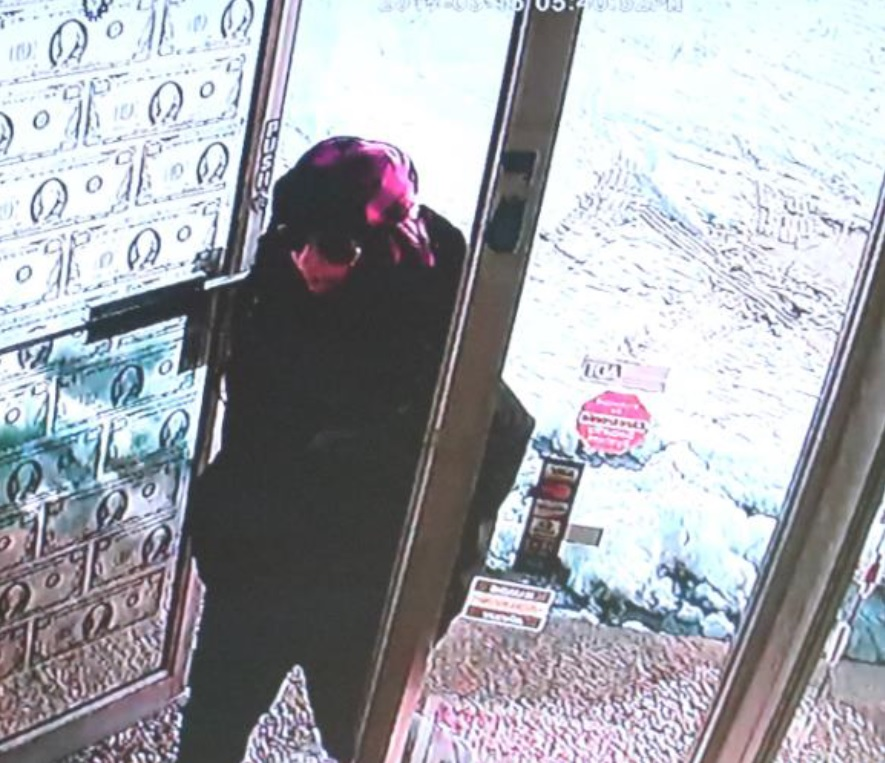 A surveillance image of the suspect in a Military Road pawn shop robbery. (Niagara County Sheriff's Office)