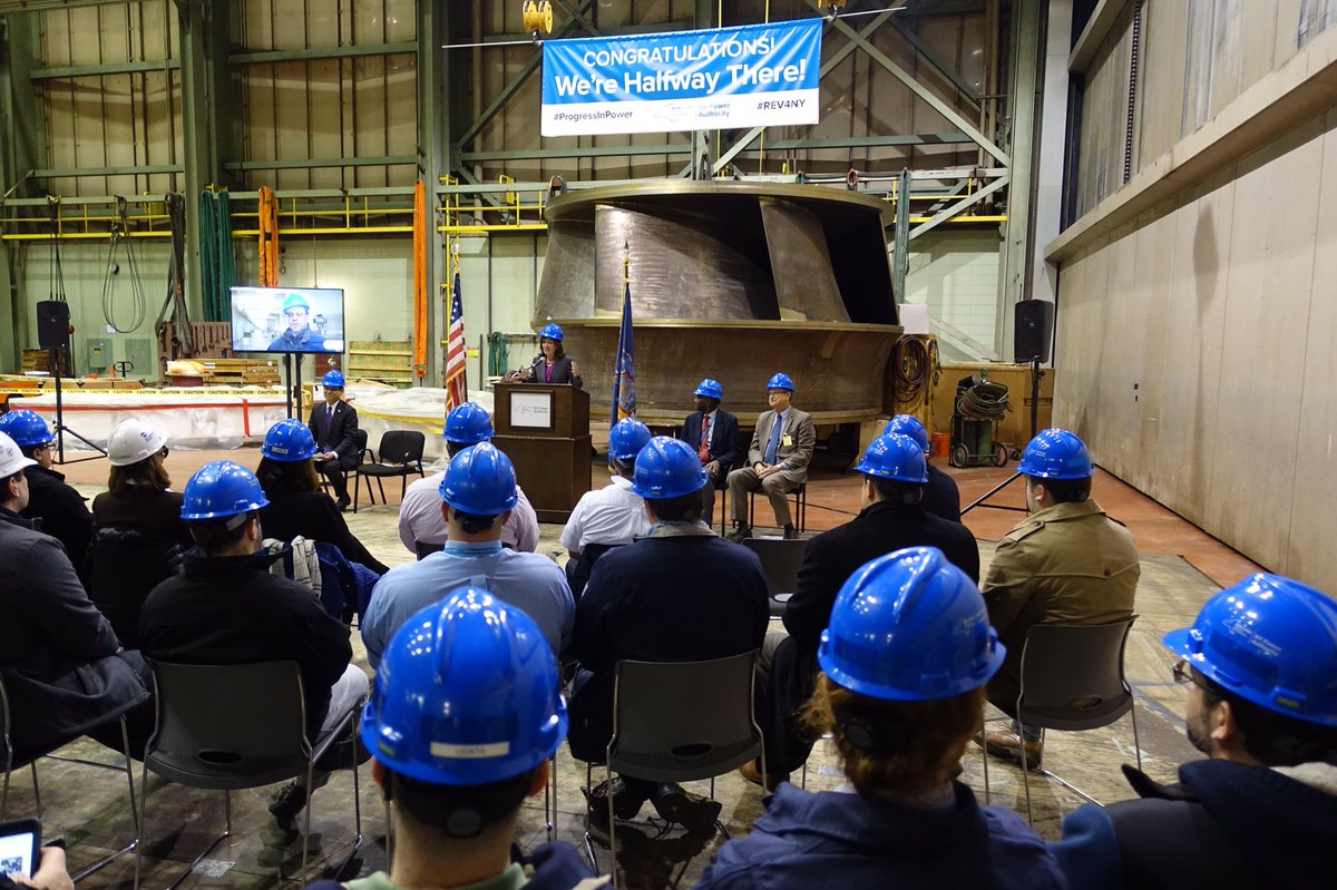 The New York Power Authority will install a new 68-ton, 15-foot  wide and 9-foot high turbine as part of $460 million upgrade at the Lewiston Pump Generating Plant.  (John Hickey/Buffalo News)