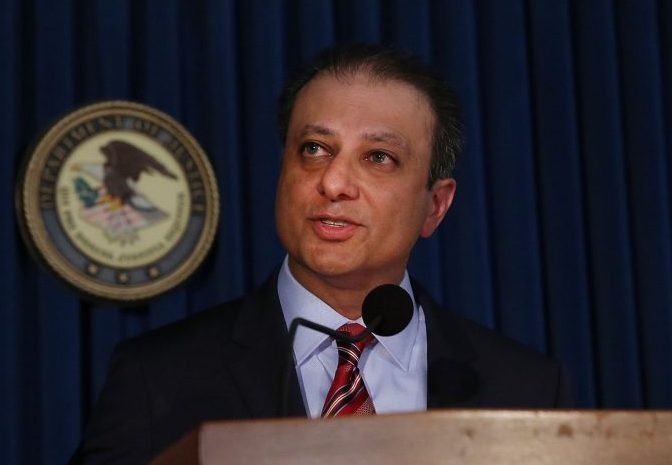 Preet Bharara was among 46 holdover Obama appointees who were called by the acting deputy attorney general Friday and told to immediately submit their resignations and plan to clear out of their offices. (Getty Images)