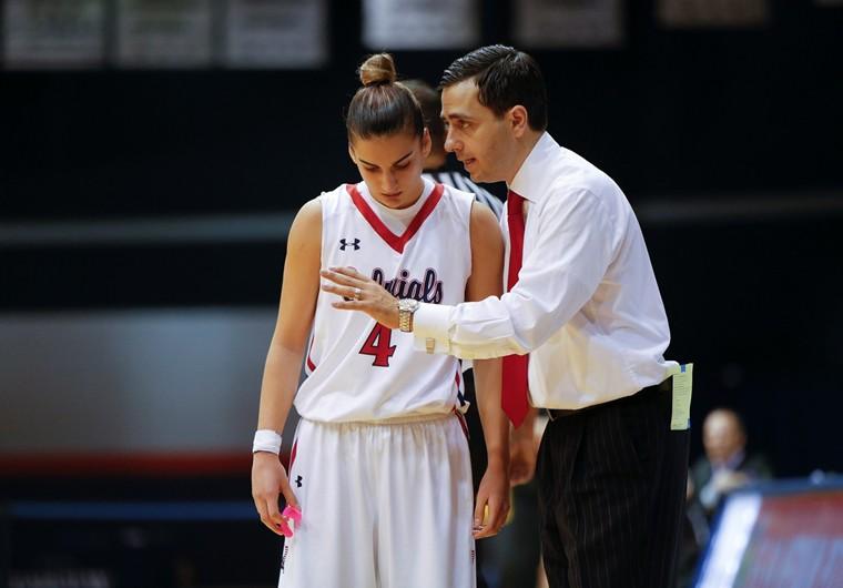 Charlie Buscaglia and Robert Morris' Anna Niki Stamolamprou. (Robert Morris Athletic Communications)