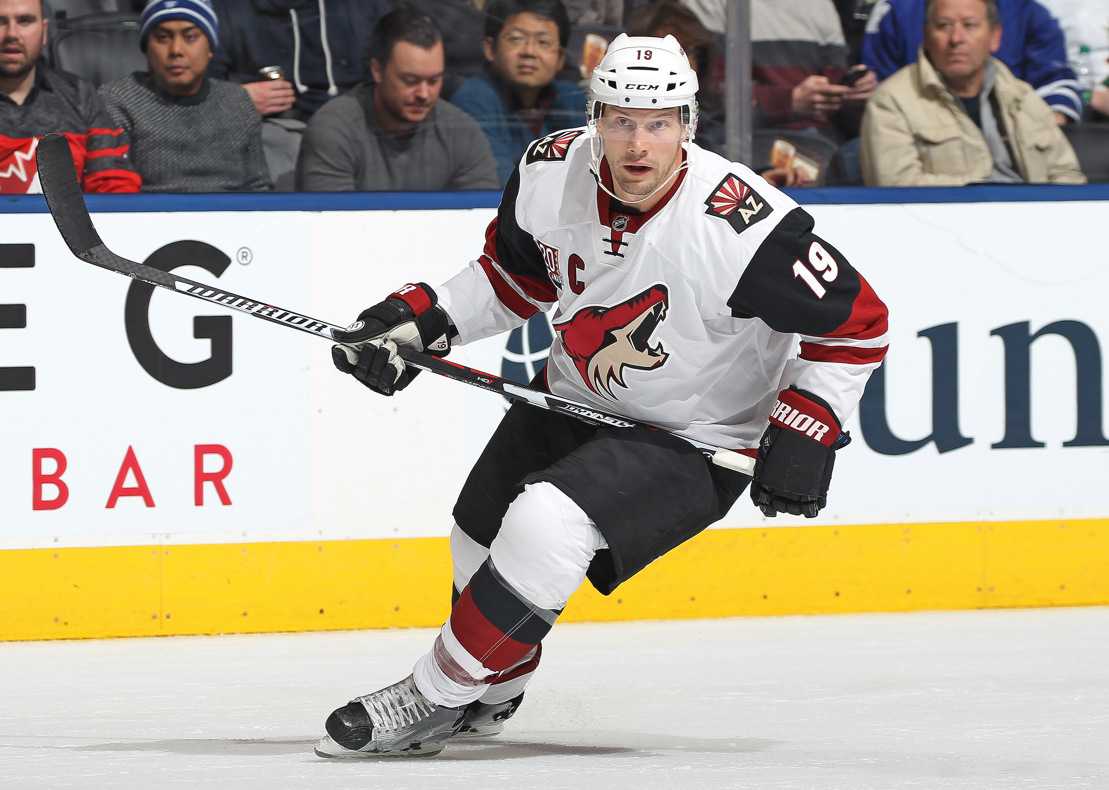 Shane Doan has spent his 21-year NHL career with the Arizona Coyotes organization. (Getty Images)