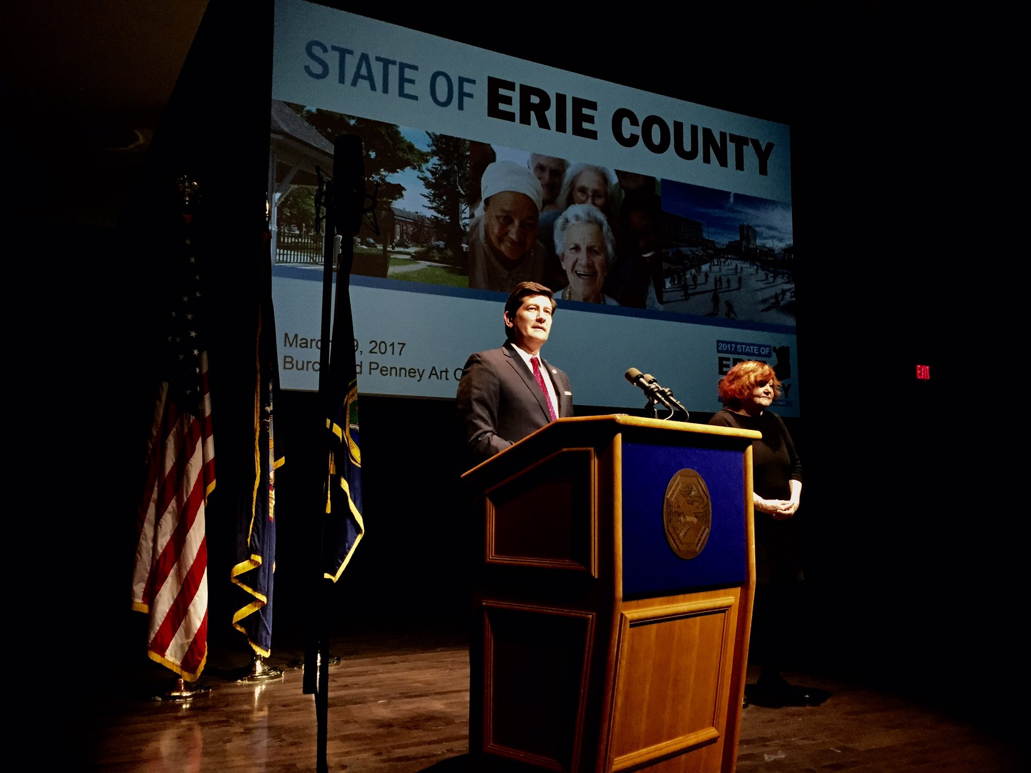 County Executive Poloncarz delivers his fifth State of the County address on Wednesday. (Robert Kirkham/Buffalo News)