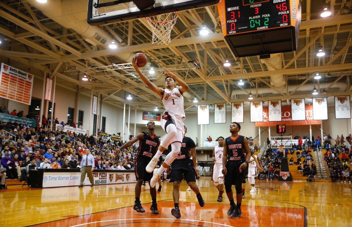 Cheektowaga's Dominick Welch broke the Western New York boys basketball career points record on this layup during the Class A-2 semifinals against South Park. The basket is among the many shining moments from the recently completed postseason by the area's boys and girls teams. (Harry Scull Jr./Buffalo News)