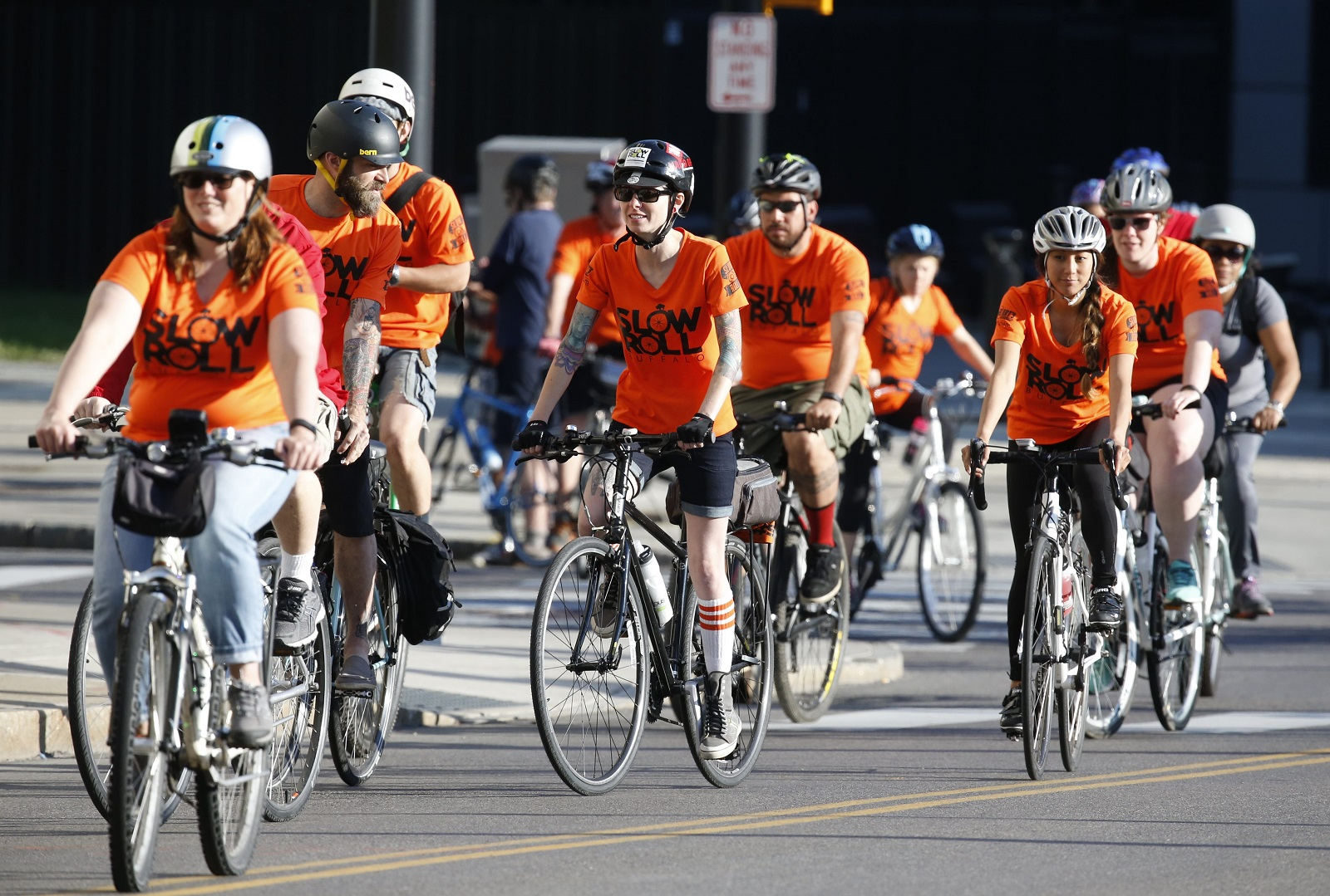 Slow Roll Buffalo cranks up its fourth season at 6:30 p.m. Monday outside the Electric Tower downtown. An after-party at nearby Big Ditch Brewing Company will follow. (Harry Scull Jr./News file photo)
