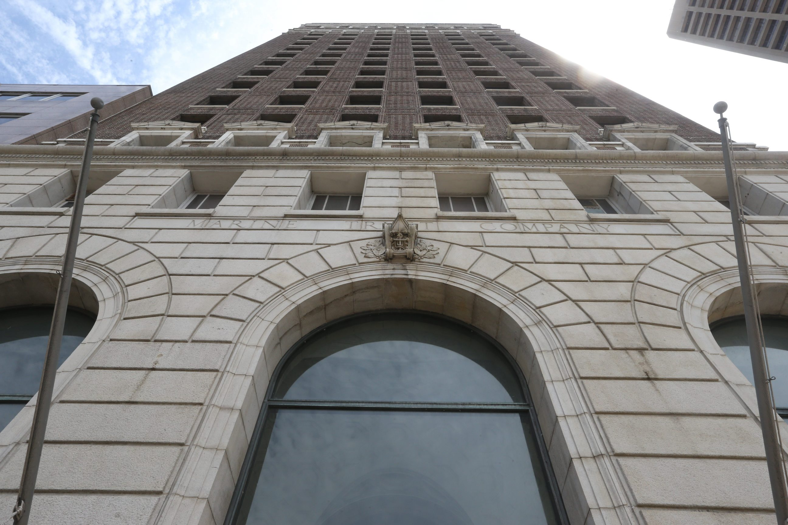 The former Marine Trust Building on Main Street will be redeveloped as The Marin. (John Hickey/Buffalo News file photo)
