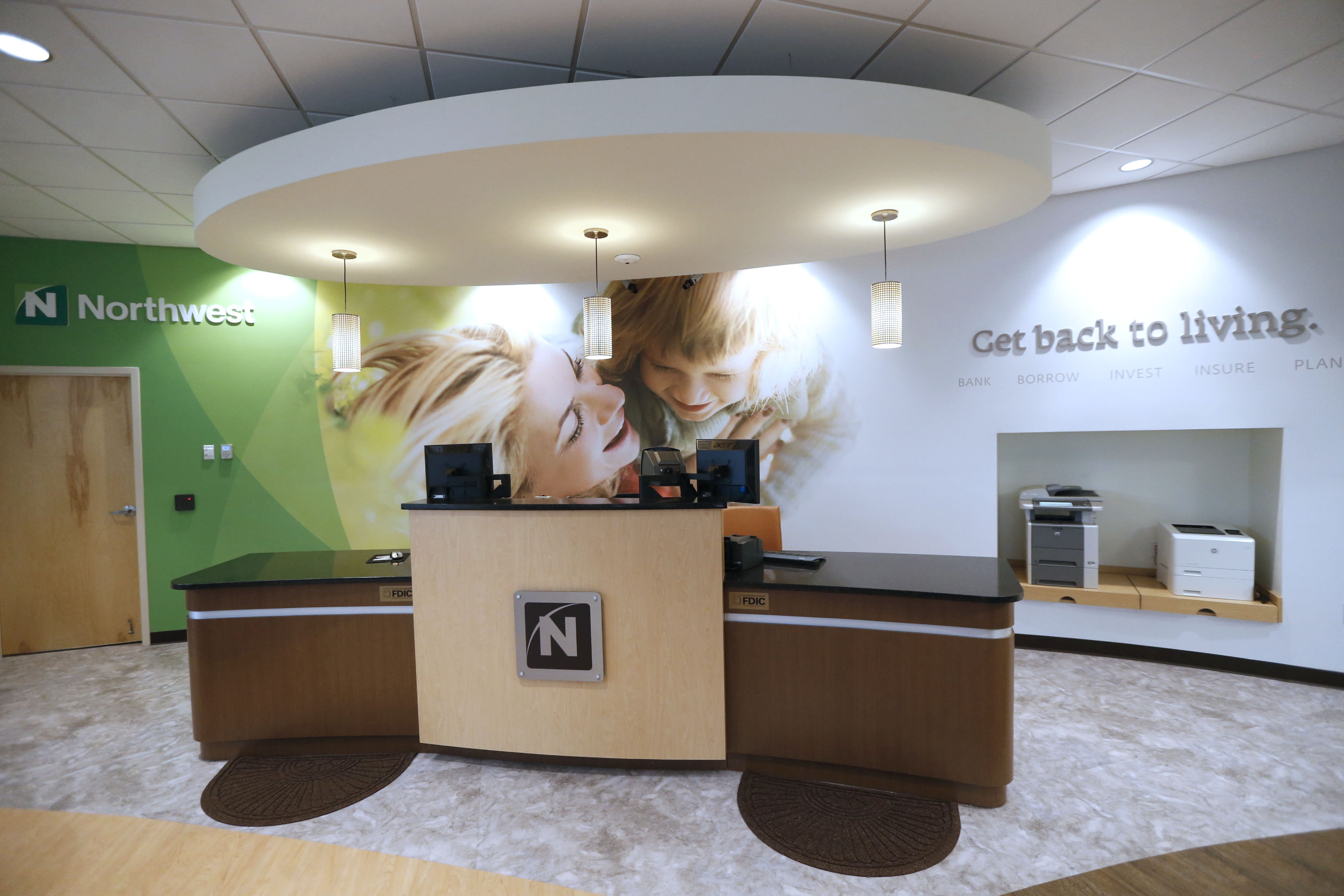 A Northwest Bank in Orchard Park features a new open-concept floor plan.  (Robert Kirkham/Buffalo News file photo)