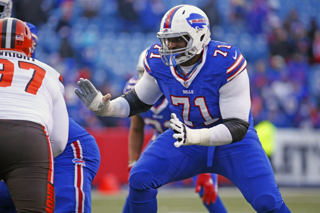 The Bills released offensive tackle Cyrus Kouandjio this offseason. (Harry Scull Jr./Buffalo News)
