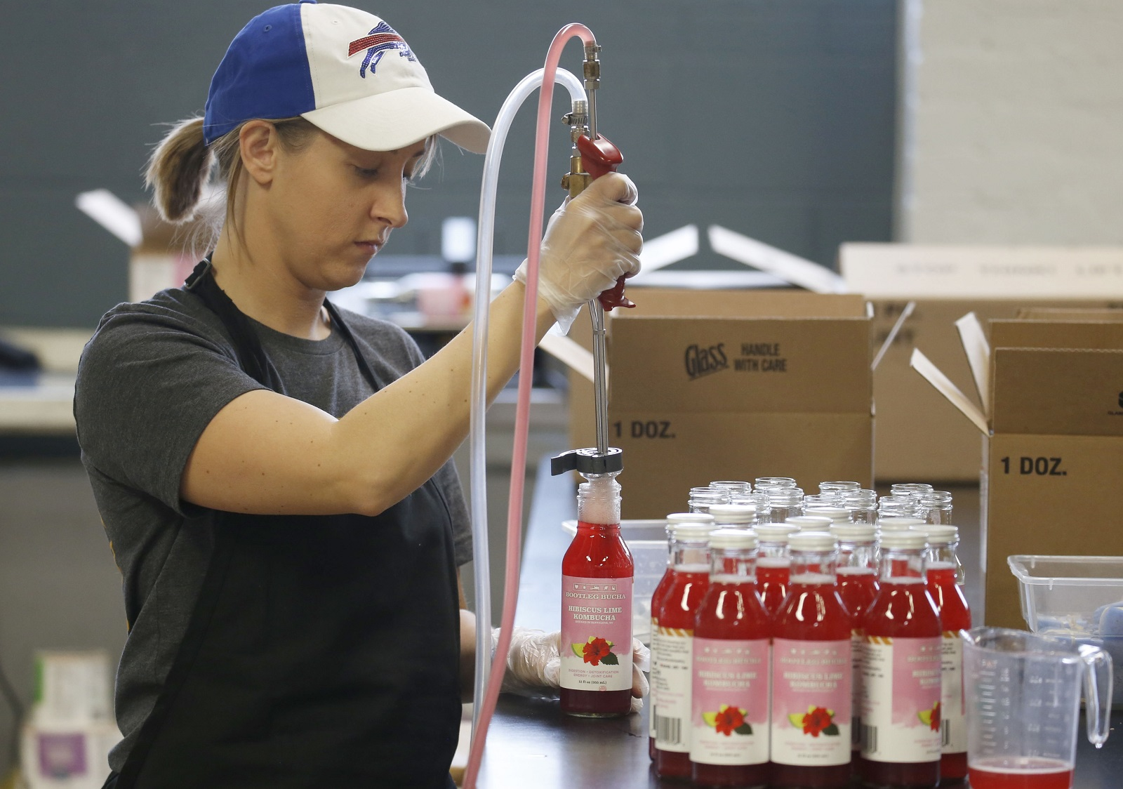 Bootleg Bucha, produced in the West Side on Niagara Street, will be featured at Albright-Knox First Fridays Art of Drink. (Robert Kirkham/Buffalo News file photo)