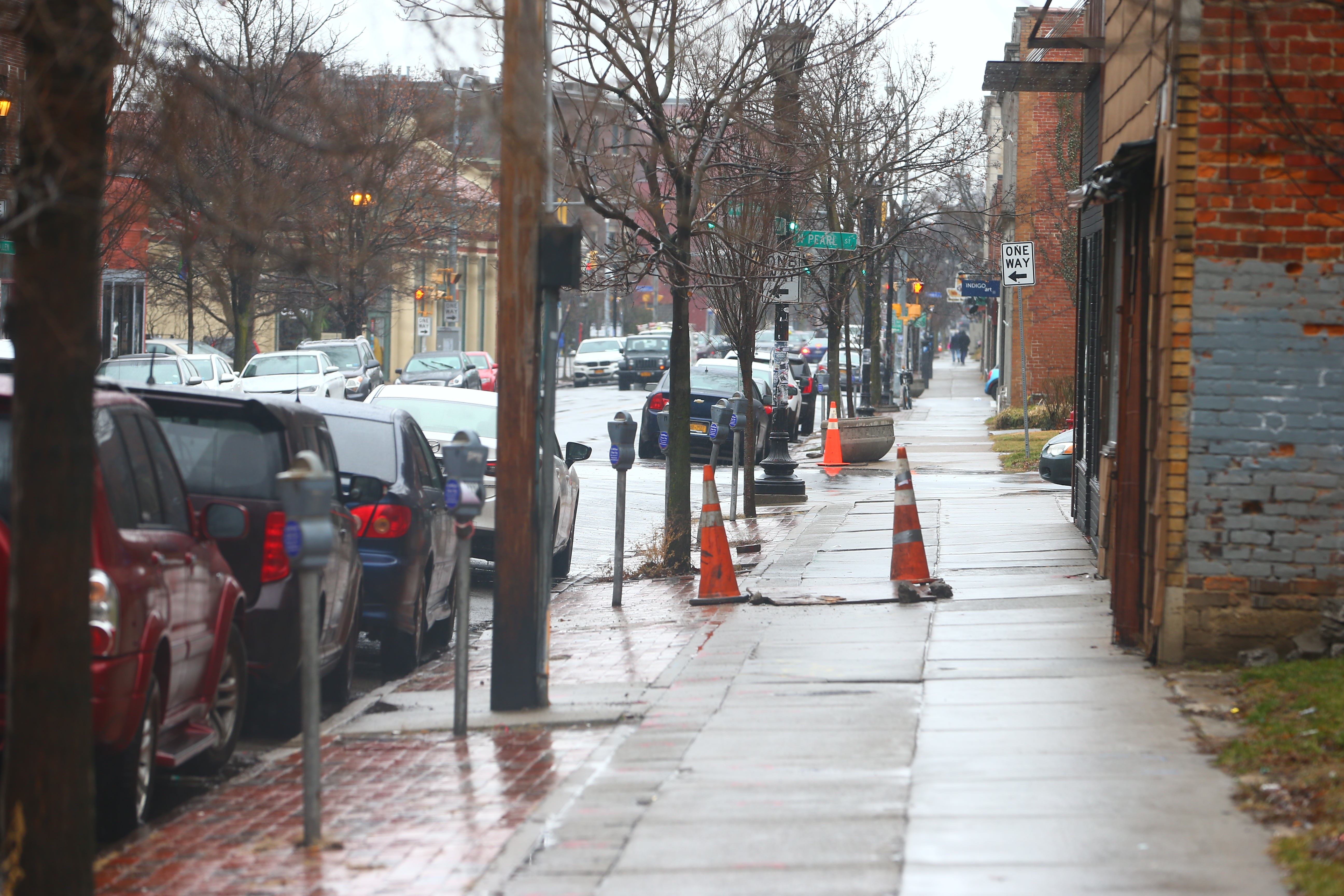 Allen Street is in line for a $7.5 million project that will overhaul the street and sidewalks. (John Hickey/Buffalo News)