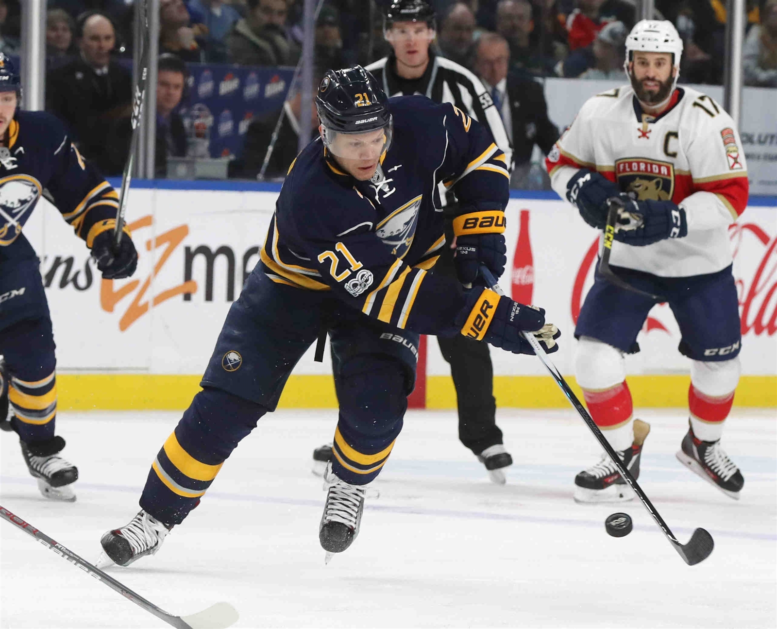 Because of a mysterious illness, Kyle Okposo hasn't played since the game against Florida on March 27. (James P. McCoy/Buffalo News)