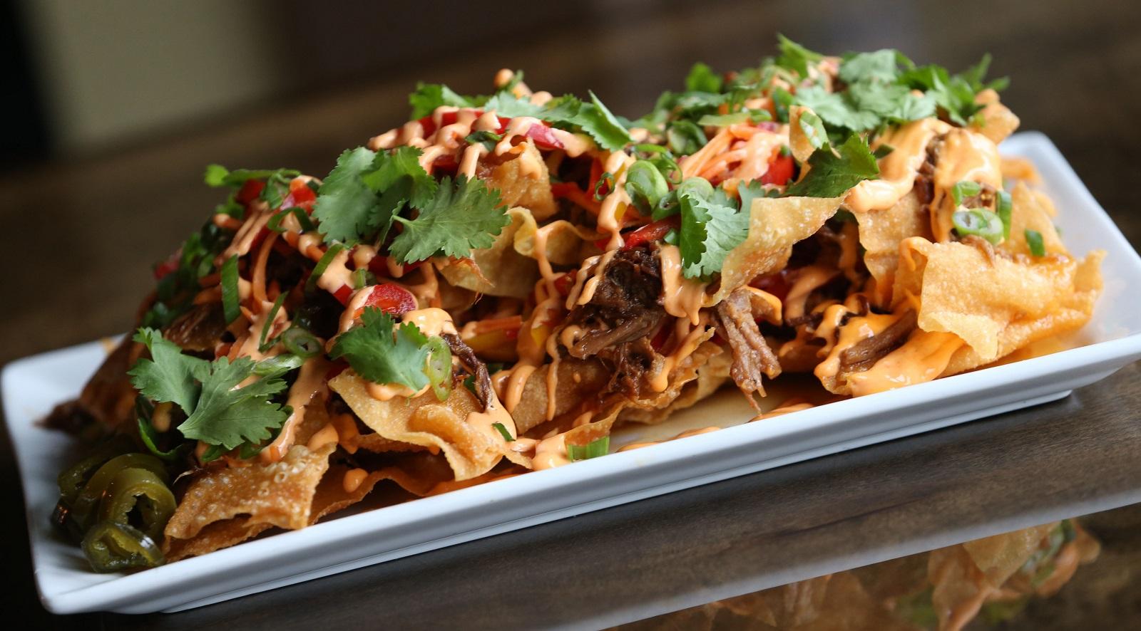 Griffon Gastropub's banh mi nachos. (Sharon Cantillon/Buffalo News)