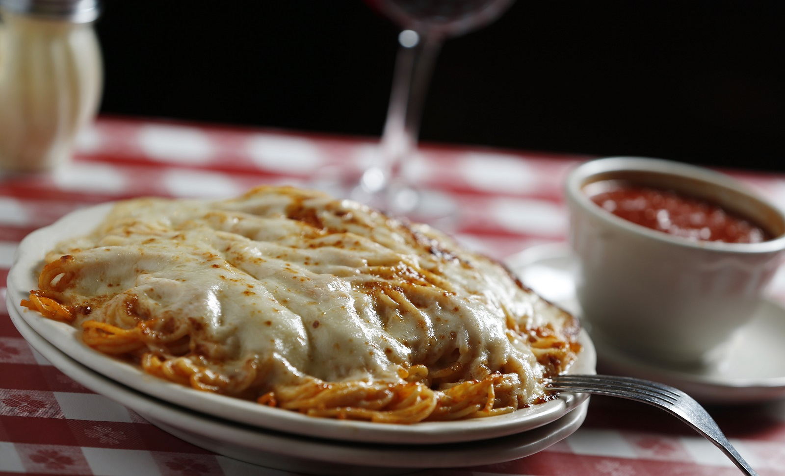 The spaghetti parm was invented at Chef's. (Sharon Cantillon/News file photo)