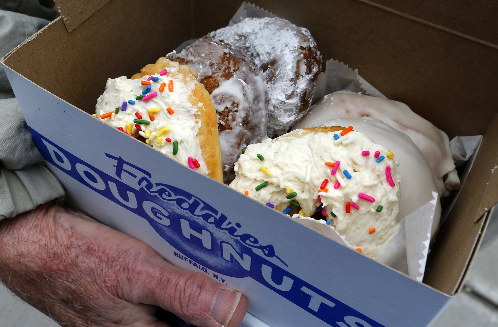 The record is set straight on the origins of the new Freddies Doughnuts. (Mark Mulville/Buffalo News)
