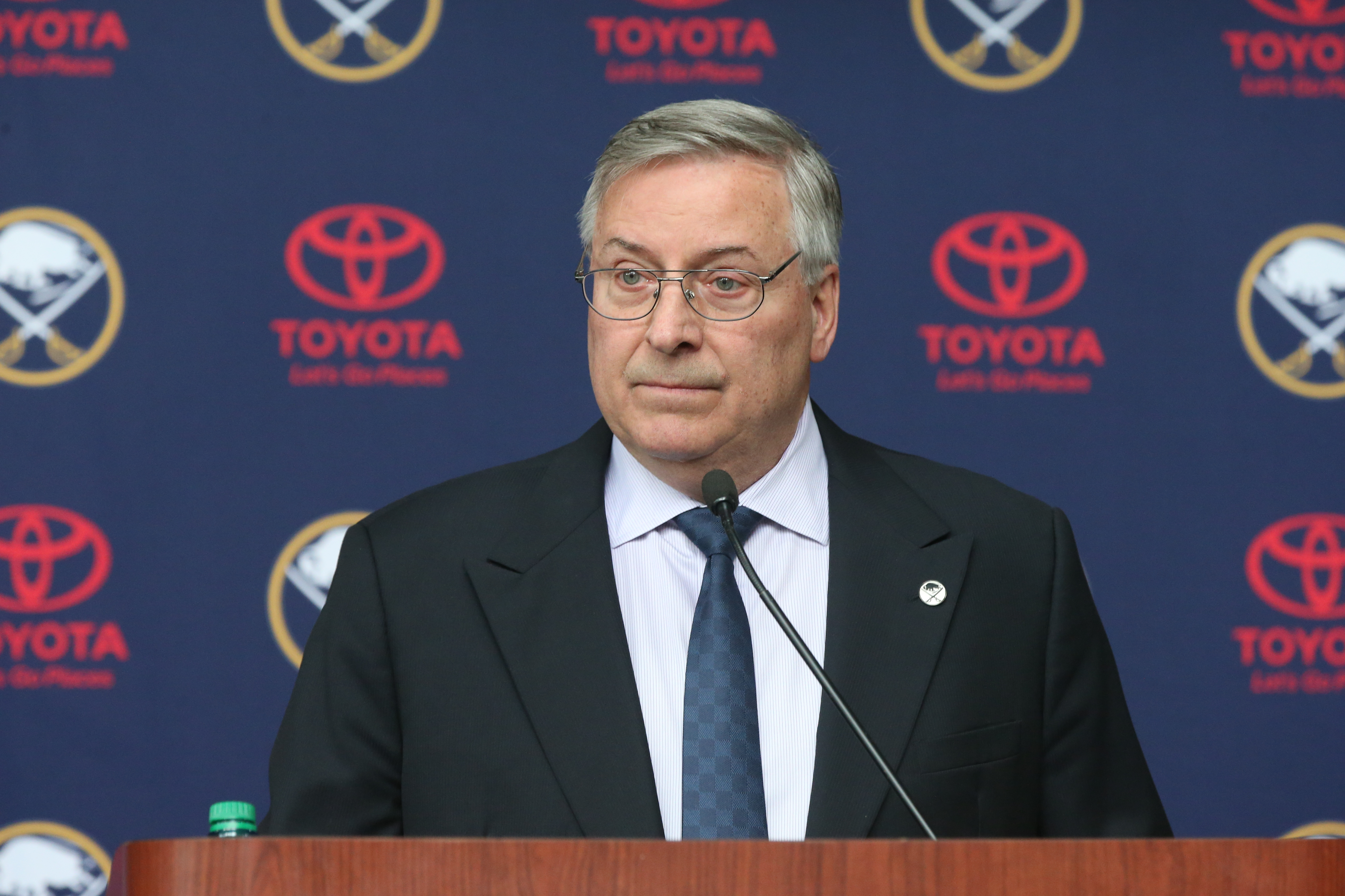 Terry Pegula has a lot of connecting parts in Canalside. (James P. McCoy/Buffalo News)
