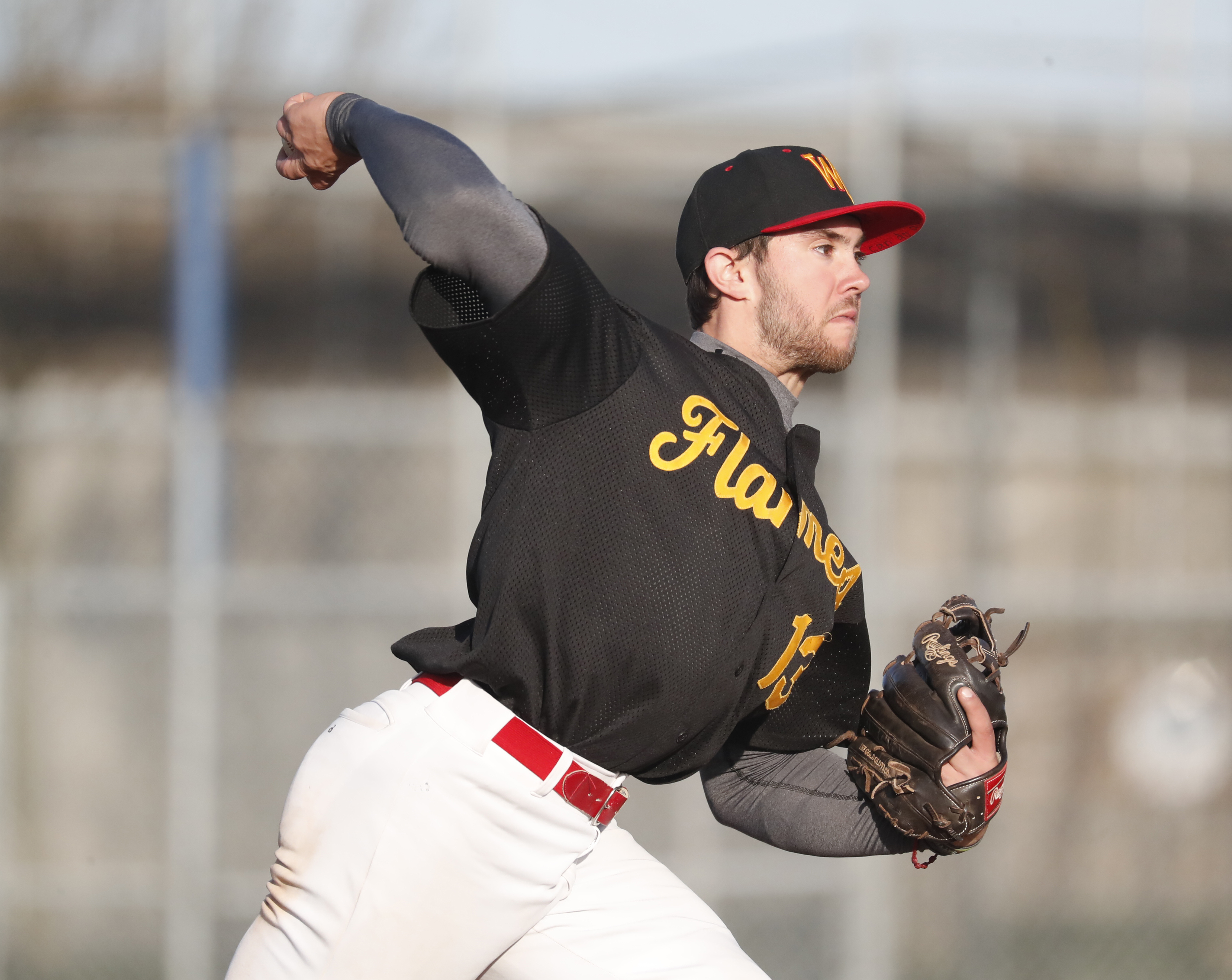 Williamsville East pitcher Charlie Mack and other area pitchers will be subject to a hard pitch count this season. (Harry Scull Jr./Buffalo News)