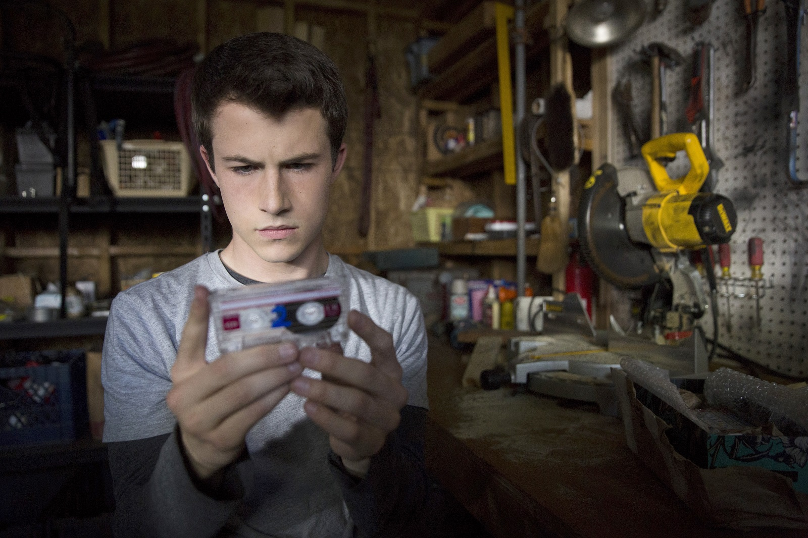 Dylan Minnette as Clay Jensen in '13 Reasons Why.' (Beth Dubber, Netflix)
