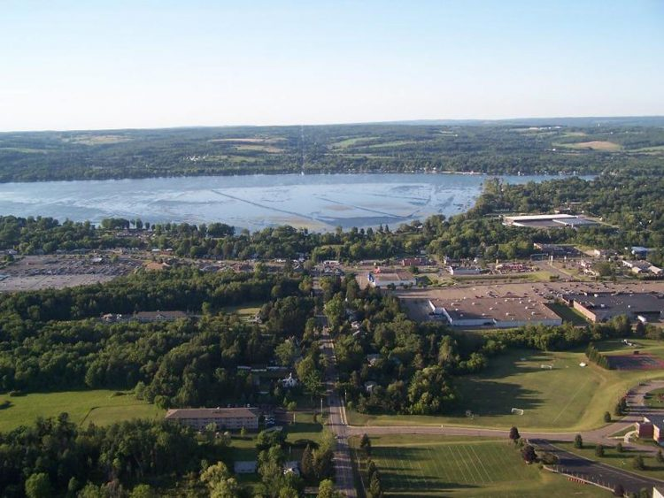 An aerial view of Chautauqua Lake. (News file photo)