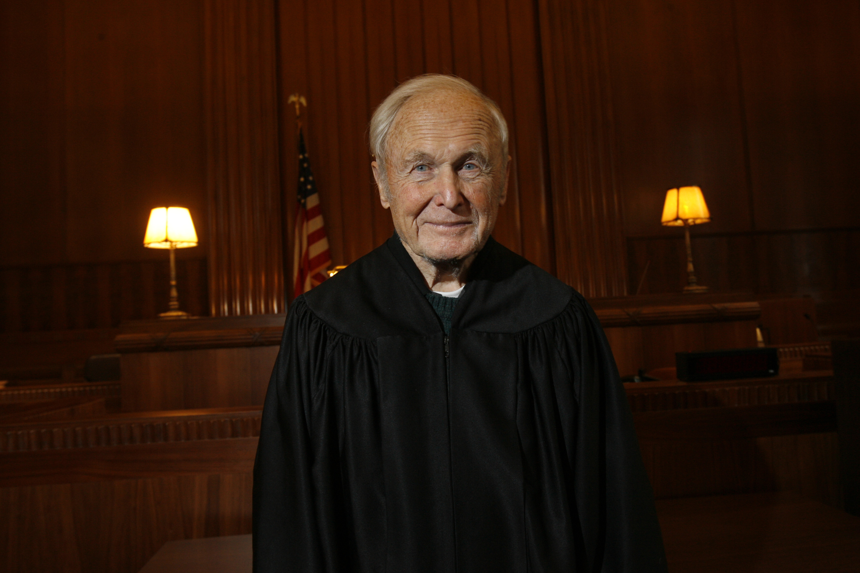 Judge John T. Curtin, in his courtroom at the federal courthouse in 2007. (Derek Gee/News file photo)