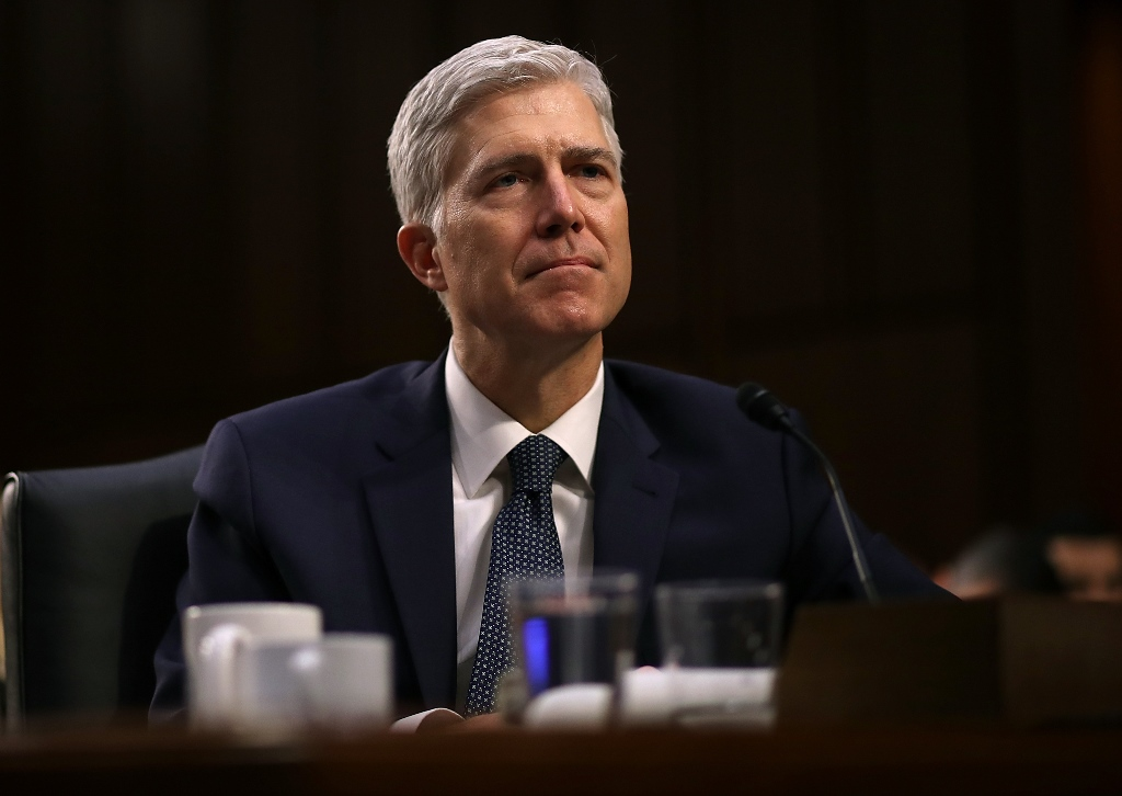 Colorado appeals court judge Neil M. Gorsuch took his constitutional oath to be the Supreme Court's 113th justice Monday morning. (Getty Images)