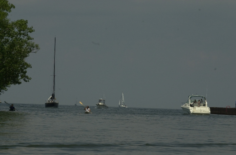 High water levels present hazards near shore to boaters on Lake Ontario. (News file photo)